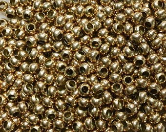 6/0 Bronze Plated 100% Brass Round Seed Beads Made in the USA Approx 10 grams