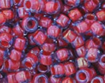 8/0 Sapphire Hyacinth Lined Toho Glass Seed Beads 2.5 inch tube 8 grams TR-08-304