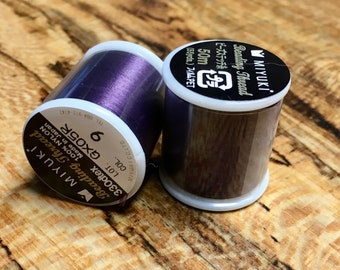 Purple Plum Miyuki Nylon Japanese Beading Thread 55 yards