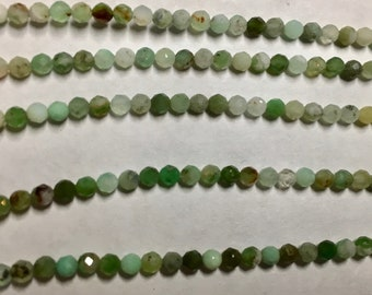 Chrysoprase 2.5mm Faceted Gemstone Round Beads Approx 75 Beads