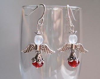 Heavenly Angel Sparkling Crystal Holiday Earring Kit with Sterling Silver Earwires
