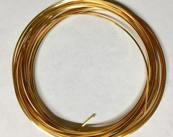 21 gauge Tarnish Resistant Gold Square Craft Wire  Made in USA 4 yards