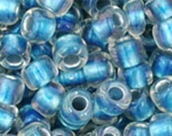 6/0 Rainbow Crystal Light Capri Blue Toho Glass Seed Beads 2.5 inch tube 8 grams TR-06-263