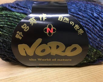 Passage to India Green Blue Purple Grey Coral Multi Noro Silk Garden 110 yards Silk Mohair Wool Blend color 435