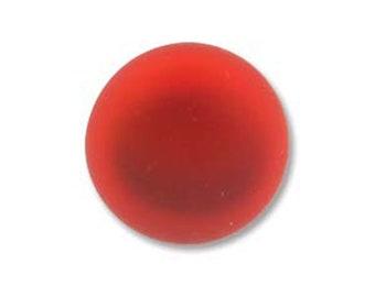 Cherry Red Lunasoft Cabochons Luna Soft Lunasilk Round Flat Back Foiled Pendant 2 pcs