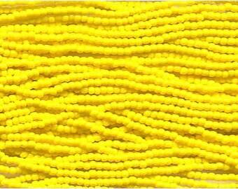 11/0 Yellow Opaque Czech Glass Seed Beads 18 g