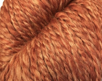 Araucania Lujoso Baby Alpaca Merino Wool Mulberry Silk Worsted Weight Yarn Color 07 Copper 164 yards