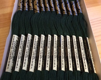 DMC 319 Very Dark Pistachio Green Embroidery Floss 2 Skeins 6 Strand Thread for Embroidery Cross Stitch Needlepoint Sewing Beading