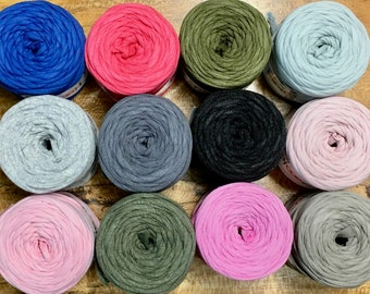 Hoooked Baby Zpagetti Yarn Cotton Super Chunky T Shirt Yarn Knitting Crochet Weaving 27 yards