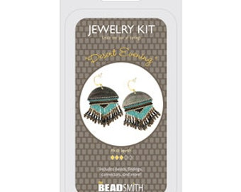 Jewelry Making Kit Desert Evening Beadsmith DIY Earrings Beadweaving Bead Embroidery All Materials Included