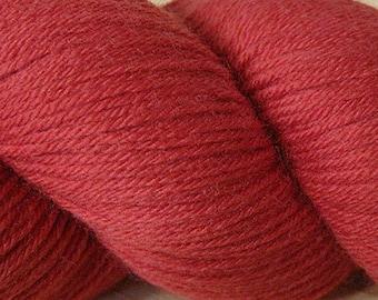 Zinnia Red Cascade Heritage Yarn 437 yards Super Fine Wool Nylon Sock Yarn Color 5661