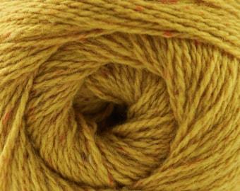 Aegean Tweed Gold by Cascade Organic Wool Tweed Yarn Rustic Look Yarn 328 yards DK Weight Color 01