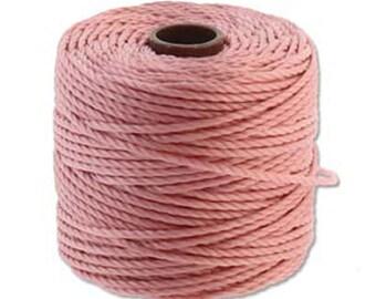 S-Lon Tex 400 Rose Pink Multi Filament Cord 35 yard Spool