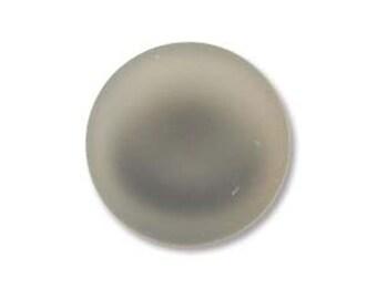 Grey Lunasoft Cabochons Luna Soft Lunasilk Round Flat Back Foiled Pendant 2 pcs