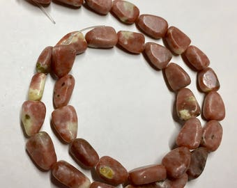 Rhodocrosite Gemstone Nuggets Variable Sizes About 12mm x 8mm 16 Inch Strand 33 beads
