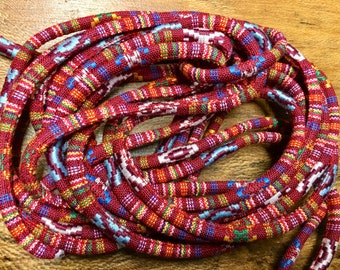 Cotton Jewelry Rope Native Ethnic Cotton Cord 6.0mm Red Multi 5 yards