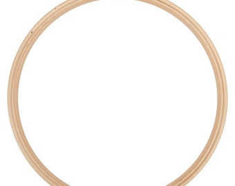 12 Inch Wood Embroidery Hoop Frank A. Edmunds Beechwood Hoop with Smooth Round Edges Brass Closure Embroidery Sewing Crafting Supply