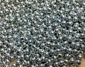 6/0 Zinc Plated 100% Brass Round Seed Beads Made in the USA Approx 10 grams