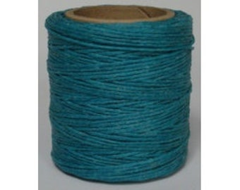 "Waxed Polyester Cord Turquoise Maine Thread .040"" 1mm cord Waxed Cord Bracelets Wrap Bracelets Made in the USA One Spool 70 yards"