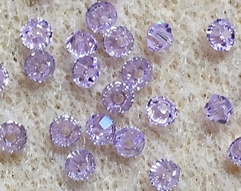 Violet 5328 Bicone Swarovski Crystal Beads 3mm Approx 48 pcs