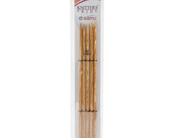 Size 5 Double Point Needles Knitters Pride Dreamz Birch Wood Knitting Double Point Needles 8 inch Long 3.75mm Set of 5 needles