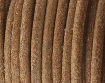 Antique Natural 1.5mm Indian Leather Round Dyed Leather Cord 25 yards for Wrap Bracelets Macrame Knotting Jewelry 25 yds