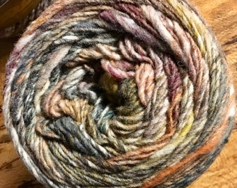 Noro Ito Worsted Weight Yarn Cake 437 yards 100% Wool color 12 Raindance