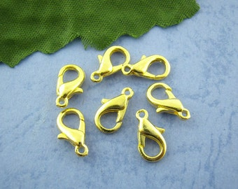 Lobster Claw Clasps Gold Plated 12mm x 6mm 20 pcs F273