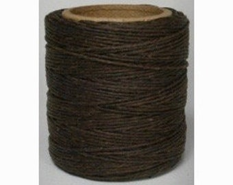 "Waxed Polyester Cord Brown Maine Thread .040"" 1mm cord Waxed Cord Bracelets Wrap Bracelets Made in the USA One Spool 70 yards"