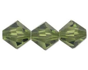 Olivine 5328 Bicone Swarovski Crystal Beads 3mm approx. 48 pcs