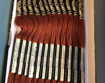 DMC 400 Dark Mahogany Embroidery Floss 2 Skeins 6 Strand Thread for Embroidery Cross Stitch Needlepoint Sewing Beading