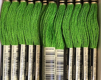 DMC 906 Medium Parrot Green Embroidery Floss 2 Skeins 6 Strand Thread for Embroidery Cross Stitch Needlepoint Sewing Beading