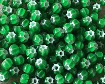 6/0 Green Preciosa Ornela Star Cornelian Rocaille Seed Beads 4mm 12 grams