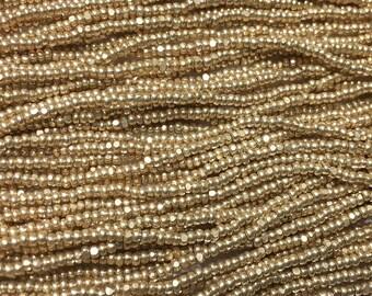 13/0 Metallic Gold Charlotte Cut Genuine Czech Glass Preciosa Seed Beads 9 grams