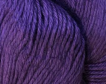 Clearance Acai Cascade Hampton Pima Cotton and Linen Purple DK Weight Yarn 273 yards color 01