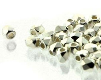 ON SALE Fine Silver Plated 2mm True Fire Polish Czech Glass Crystal Beads 50 beads