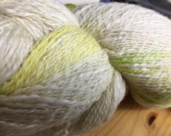 Kancha Lemon Lime Valle Sagrado Variegated Handpainted Cotton and Merino Wool Fingering Light Sport Yarn 437 yards color 04