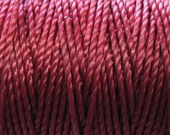 S-Lon Tex 400 Dark Red Multi Filament Cord 35 yard Spool