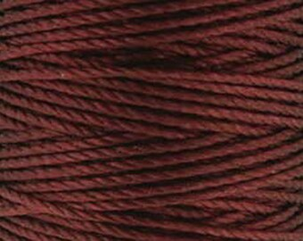 S-Lon Tex 400 Burgundy or Maroon Multi Filament Cord 35 yard Spool