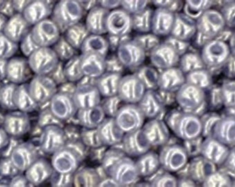 11/0 Gold Lustered Pale Wisteria Toho Glass Seed Beads 2.5 inch tube 8 grams TR-11-455