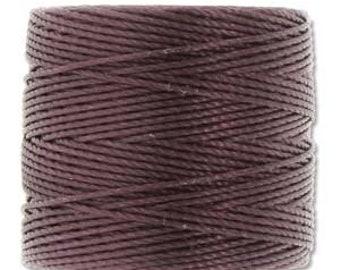 Eggplant S-Lon 210 #18 Bead Cord Tex 210 Multi Filament Twisted Nylon Cord One Spool 77 yards