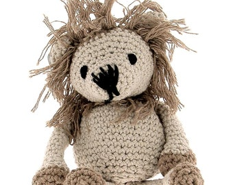 ON SALE Hoooked DIY Crochet kit Leroy the Lion Toy Eco Barbante Cotton Yarn with Crochet Hook and Instructions