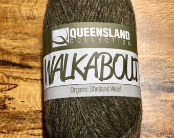 Donkey Brown Walkabout Organic Shetland Wool by Queensland Collection Sport Weight Certified Organic 157 yards Color 07