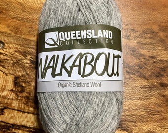 Silver Grey Walkabout Organic Shetland Wool by Queensland Collection Sport Weight Certified Organic 157 yards Color 03