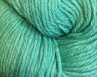 Clearance Opal Green Cascade Hampton Pima Cotton and Linen DK Weight Yarn 273 yards color 14