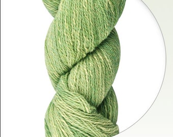 Kancha Green Machu Picchu Variegated Handpainted Cotton and Merino Wool Fingering Light Sport Yarn 437 yards color 12