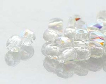 Crystal AB 2mm True Fire Polish Czech Glass Crystal Beads 100 beads