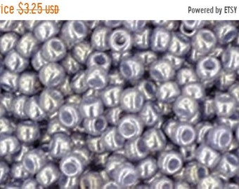 ON SALE 11/0 Gold Lustered Pale Wisteria Toho Glass Seed Beads 2.5 inch tube 8 grams TR-11-455