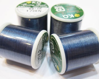 Denim Blue KO Nylon Japanese Beading Thread 55 yards