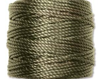 Olive Green S-Lon Tex 400 Multi Filament Cord One Spool 35 yards